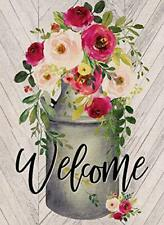 Covido Home Decorative Welcome Garden Flag, House Yard Lawn Outdoor Small Flag D