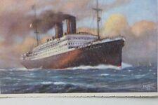 27427 PC Ship Steamer LLOYD TRIESTINO SS GANGE  AK Schiff Dampfer um 1930