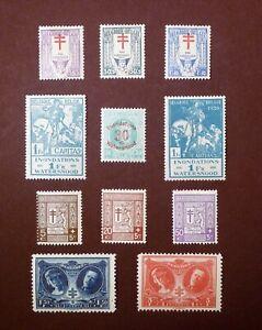 Belgium Various Commem. Sets between 1925-1926 Mint as per Photo Cat £23