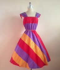 1960s Does 40s Vintage Women's Cotton Summer Sundress Day Dress Size Medium