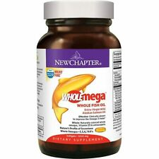 New Chapter Wholemega Fish Oil (120 softgels, 1000mg)