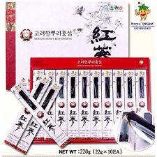 Korean Honey Red Ginseng Roots 220g (22g x 10ea) Goryeo ginseng, insam, panax