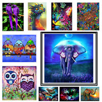 5D Full/Part Drill Animal Diamond Painting Cross Crafts Stitch Kit Decor Art DIY