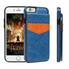 Luxury Leather Card Holder Wallet Stand Back Cover Case For iPhone 6 7 7 Plus 8