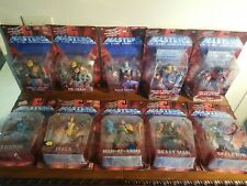 Lot 10 Figures Motu 200x Masters of the Universe 2002 In Box New - Battle Sound