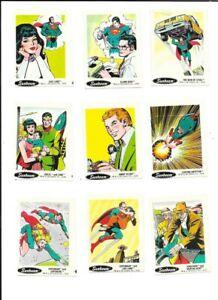 25 TAYSTEE SUNBEAM 1978  STICKERS DC COMICS SUPERMAN BATMAN FLASH AQUAMAN JOKER