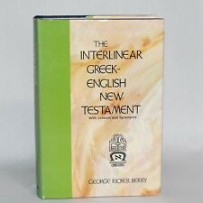 The Interlinear Greek English New Testament George Ricker Berry Hardcover 1979