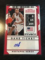 Mustapha Heron 2020 Contenders Draft Picks Red Game Ticket Auto #111