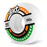 Jart Skateboards Tron Skateboard Wheels White 51mm