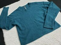 Free People CASHMERE Crop Sweater Shirt Teal Blue Green Size Small