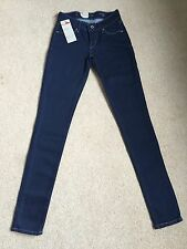 Femmes/filles Levis demi curve skinny modern rise jeans W23 L32 bnwt (603)