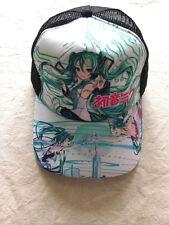 Baseball cap/hat with colorful printing of Anime Hatsune miku size adjust