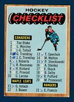 CHECKLIST MARKED 66-67 TOPPS 1966-67  NO 66 VG++  0746