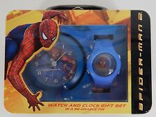 New Spider-man 2 Watch and Clock Gift Set in a Re-Usable Tin 2004