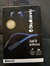 New Skullcandy Blue Ink'd In-Ear Buds Bluetooth Wireless Headphone Headset w/Mic