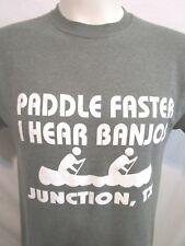"Funny ""Paddle Faster I Hear Banjos"" Junction TX Green T Shirt Mens Sz M"