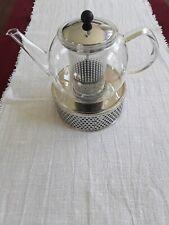Bodum Assam Teebereiter 1L Teekanne Glaskanne * Teesieb * Edelstahl Stövchen *