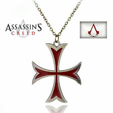 Croix avec Chaine Pour Homme en argent Beau Model ASSASSIN'S CREED