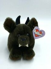 NWT Puffkins Ding The Vampire Bat Brown Black Plush Stuffed Animal Swibco