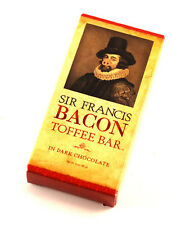 SIR FRANCIS BACON TOFFEE  DARK CHOCOLATE COVERED BACON TOFFEE CANDY BAR - 3 OZ