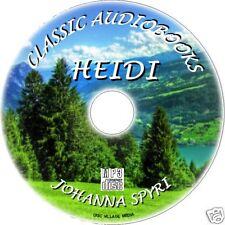 Heidi Johanna Spyri Great MP3 CD classique enfants Livre audio Kids roman NEUF