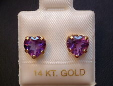 Exclusive Amethyst Ohrstecker - 1,75 ct. - 14 Kt. Gold - 585 - Herz Schliff  TOP