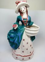 "Kim Ward 1937 Hollywood California Pottery Flower Girl TALL Planter Vase 13"" EXC"