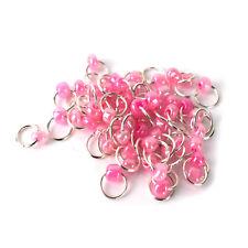 Piercing Nagel Schmuck Nail Silber Ring Piercing Nailart 10 Stück Pink