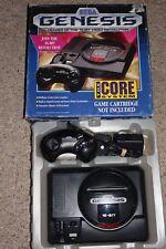 Sega Genesis Model 1 Black Console System with Box #GEN12 GREAT Shape