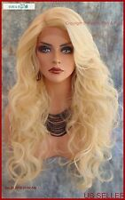 Lace Front C Parting Layered Curly Wig  Color 613 Blond  Sexy Style