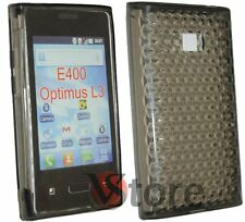 Cover for LG L3 OPTIMUS E400 Gel TPU Black + Screen Protector Film