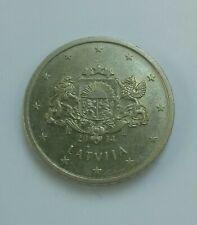 European Union Latvia 50 Euro cent coin Coat of arms 2014