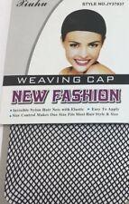 BLACK FISHNET WIG CAP - Hair Elastic Liner Weaving Mesh Stocking Sleep Net