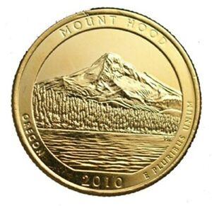 2010 MOUNT HOOD 24KT GOLD PLATED QUARTER (D)