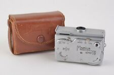 EXC+++ MAMIYA SUPER 16 SUBMINIATURE SPY CAMERA w/NICE FITTED CASE, TESTED, GREAT