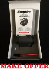 NEW 2017 Aimpoint Micro T-2 T2 2MOA NV Red Dot Sight with Standard Mount 200170