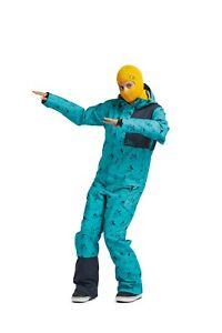 Ski Snowboard One Piece Women's Medium Airblaster Stretch Freedom Suit Teal 2020