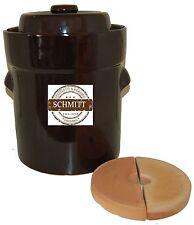 Pot à choucroute en grès pour la lactofermentation 10 litres