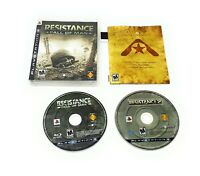 Playstation 3 Game Lot Resistance Fall Of Man 1 2 (Sony PS3) FREE SHIPPING!!!