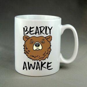 Bearly Awake Funny Tired Mug Gift Present Birthday Christmas