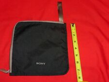 Genuine Sony Headphone/Accessories Soft Nylon Fabric Bag/Sack w/Pocket