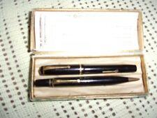 More details for vintage conway stewart writing set - 14 ct gold nib - loft find
