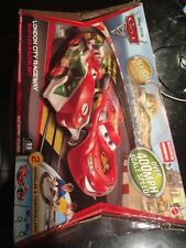 Disney PIXAR Cars 2 London City Raceway Mattel Hot Wheels TYCO Slot Car Race Set
