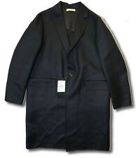 $2,500 Bally Black Wool Coat Size US 40, EU 50 Made in Italy