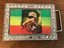 "Buckle 2 5/8"" X 3 7/8"" Bob Marley Multi Image Metal Belt"