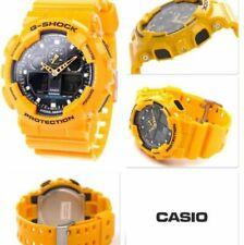 New G-Shock GA100A-9A Wrist Watch Yellow bumblebee Transformer Free Shipping