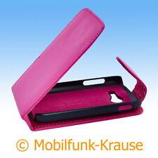 Flip Case Etui Handytasche Tasche Hülle f. Samsung Galaxy Pocket 2 (Pink)