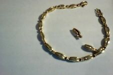Geniune 1ct 14KT solid gold Diamond tennis 6 1/2 in. braclet & matching earrings