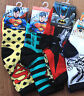 NEW Boys Children Kids Superman Super man S or batman short shoes Socks 4-6yrs