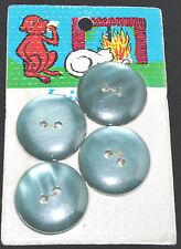 plaque ancienne 4 boutons LES FABLES DE LA FONTAINE le singe et le chat button